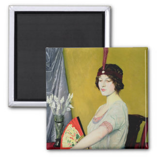 The Japanese Fan, 1914 2 Inch Square Magnet