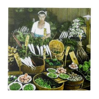 The Japanese Farmers Market Fall Harvest Vintage Tile