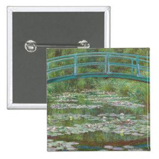 The Japanese Footbridge, 1899 (oil on canvas) Button