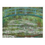 The Japanese Footbridge, 1899 (oil on canvas) Postcard
