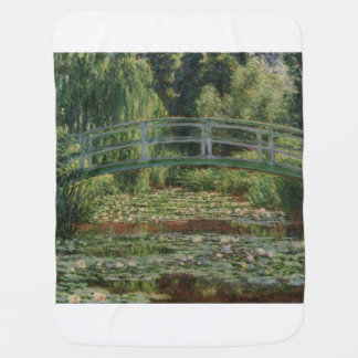 The Japanese Footbridge and the Water Lily Pool Baby Blanket