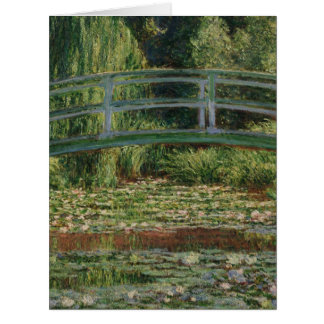The Japanese Footbridge and the Water Lily Pool Card