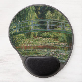 The Japanese Footbridge and the Water Lily Pool Gel Mouse Pad