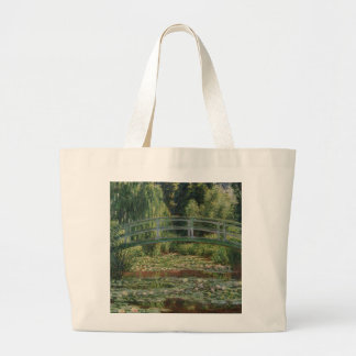 The Japanese Footbridge and the Water Lily Pool Large Tote Bag