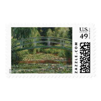The Japanese Footbridge and the Water Lily Pool Postage