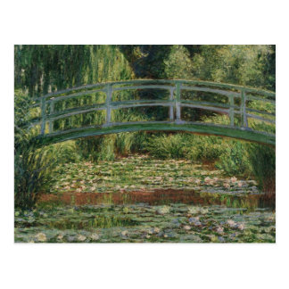 The Japanese Footbridge and the Water Lily Pool Postcard