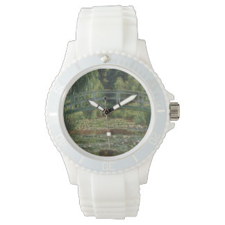The Japanese Footbridge and the Water Lily Pool Wristwatches