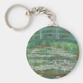 The Japanese Footbridge by Claude Monet Key Chain