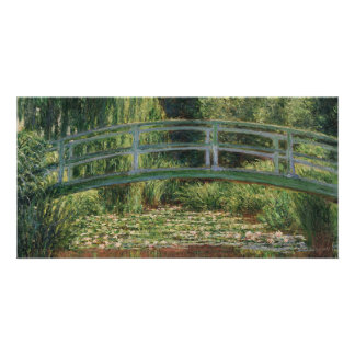 The Japanese Footbridge by Claude Monet Photo Card