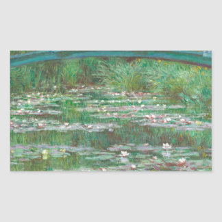 The Japanese Footbridge by Claude Monet Rectangular Sticker