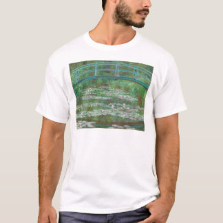 The Japanese Footbridge by Claude Monet T-Shirt