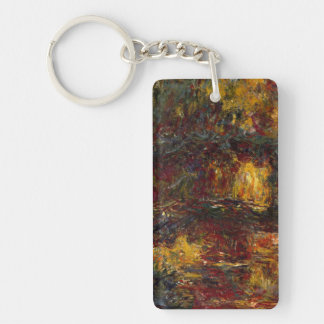 The Japanese Footbridge, Giverny by Claude Monet Keychain