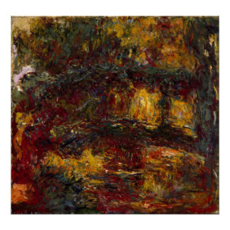 The Japanese Footbridge, Giverny by Claude Monet Poster