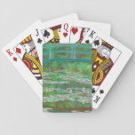 "The Japanese Footbridge Playing Cards<br><div class=""desc"">&quot;The Japanese Footbridge&quot; 1899 Oil on Canvas by French painter Claude Monet (1840-1926).</div>"