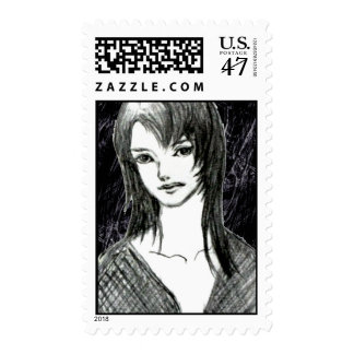 The Japanese girl Postage Stamp