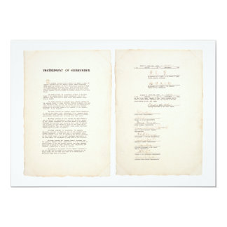 The Japanese Instrument of Surrender (1945) Card