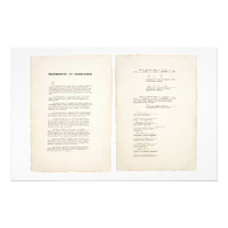 The Japanese Instrument of Surrender (1945) Stationery