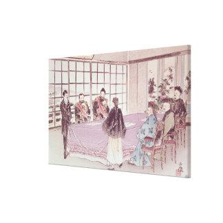 The Japanese ministers I-Tso and Mou-Tsou Canvas Print