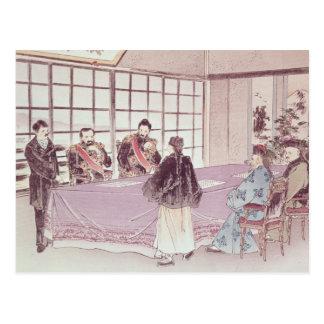 The Japanese ministers I-Tso and Mou-Tsou Postcard