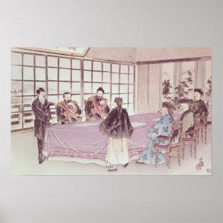 The Japanese ministers I-Tso and Mou-Tsou Poster