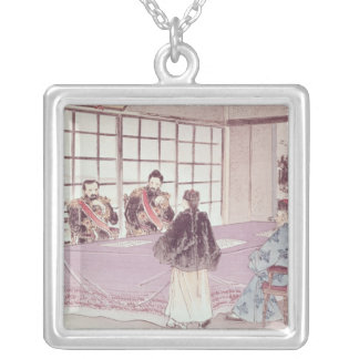 The Japanese ministers I-Tso and Mou-Tsou Silver Plated Necklace