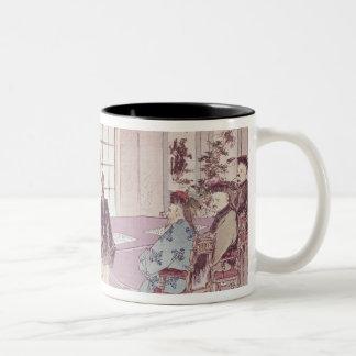 The Japanese ministers I-Tso and Mou-Tsou Two-Tone Coffee Mug