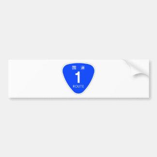 The Japanese national highway 1 line - traffic sig Bumper Sticker