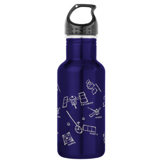 < The Japanese probe - alphabet (to become raw,) > 18oz Water Bottle