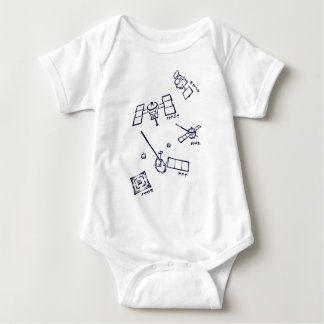 < The Japanese probe - kana (indigo) > Space probe Baby Bodysuit
