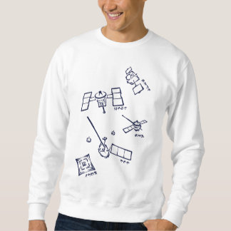< The Japanese probe - kana (indigo) > Space probe Pullover Sweatshirt