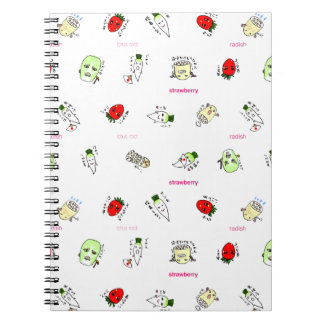The Japanese radish of the non agricultural chemic Spiral Notebook