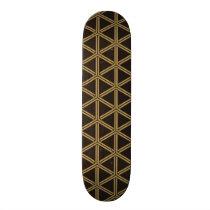 The Japanese traditional pattern Bishamon tortoise Skateboard Deck