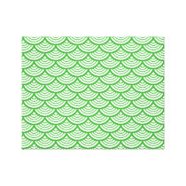 The Japanese traditional pattern Seikai wave Japan Canvas Print