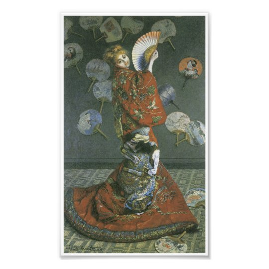 The Japanese Woman by Claude Monet Photo Print