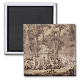 The Jardin des Tuileries in 1808 Magnet