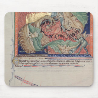 The jaws of Hell swallowing the red dragon Mouse Pad