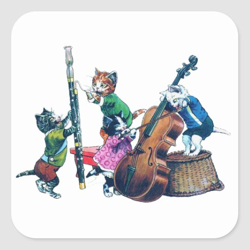 The Jazz Cats Band Square Sticker