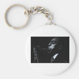The Jazz Legend Archie Shepp Basic Round Button Keychain