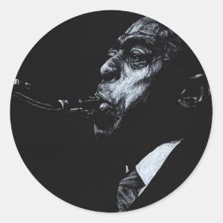 The Jazz Legend Archie Shepp Classic Round Sticker