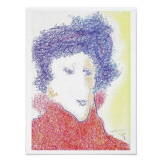 The Jazz Poetess by Rolli (Original Print)