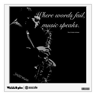 The Jazzman Saxophone Player Wall Sticker