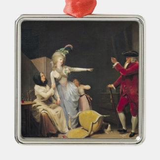 The Jealous Old Man, 1791 Metal Ornament