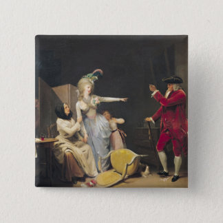 The Jealous Old Man, 1791 Pinback Button