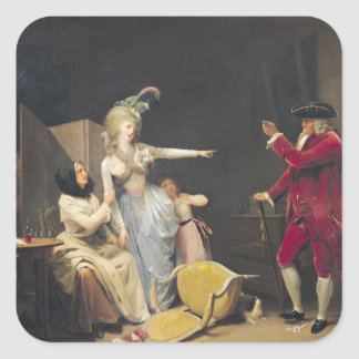 The Jealous Old Man, 1791 Square Sticker