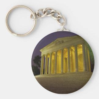 The Jefferson Memorial Basic Round Button Keychain