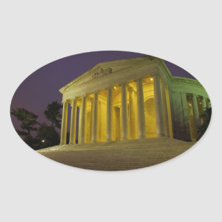 The Jefferson Memorial Oval Stickers