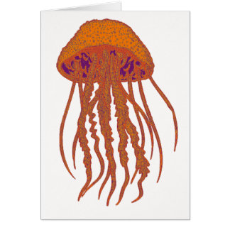 THE JELLYFISH SIGNS GREETING CARD