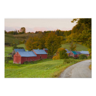 The Jenne Farm in Woodstock, Vermont. Fall. Poster