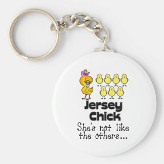 The Jersey Chick Keychain