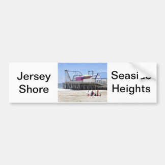 The Jersey Shore at Seaside Heights Car Bumper Sticker